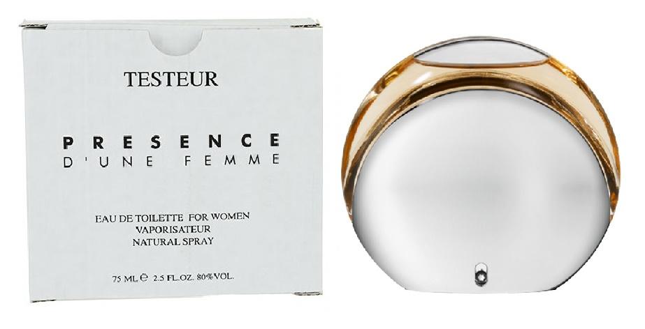 Mont Blanc Presence D`Une Femme, Toaletní voda - Tester, 75ml, Dámska vôňa, + AKCE: dárek zdarma