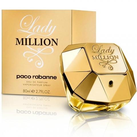 Paco Rabanne Lady Million, Parfémovaná voda, 80ml, Dámska vôňa, + AKCE: dárek zdarma