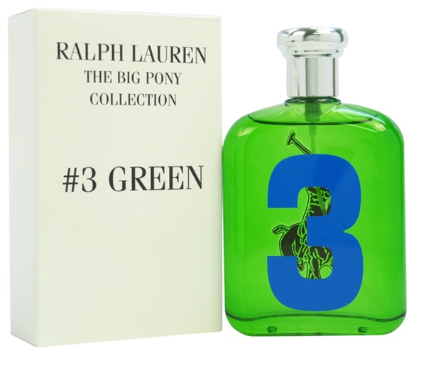 Ralph Lauren Big Pony 3 Green, Toaletní voda - Tester, 125ml, Pánska vôňa, + AKCE: dárek zdarma