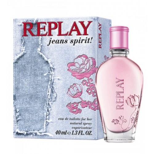 Replay Jeans Spirit! for Her, Toaletní voda, 40ml, Dámska vôňa, + AKCE: dárek zdarma
