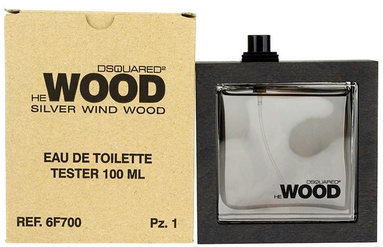 Dsquared2 He Wood Silver Wind Wood, Toaletní voda - Tester, 100ml, Pánska vôňa, + AKCE: dárek zdarma