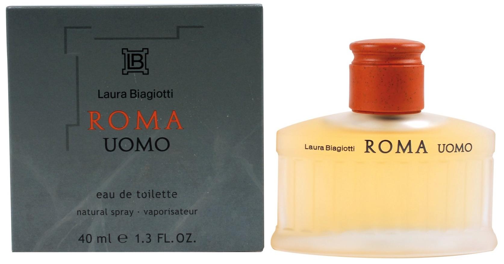 Laura Biagiotti Roma Uomo, Toaletní voda, 40ml, Pánska vôňa, + AKCE: dárek zdarma