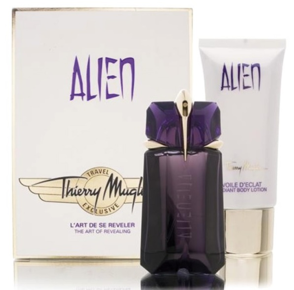 Thierry Mugler Alien, Dárková sada, parfémovaná voda 30ml + tělový krém 100ml, Dámska vôňa, + AKCE: dárek zdarma
