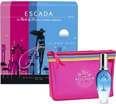 Escada Island Kiss 2011, Dárková sada, toaletní voda 30ml + kosmetická taška, Dámska vôňa, + AKCE: dárek zdarma
