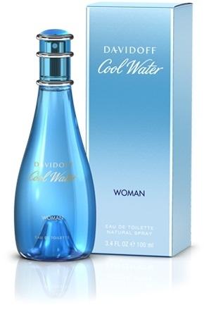 Davidoff Cool Water Woman, Toaletní voda, 100ml, Dámska vôňa, + AKCE: dárek zdarma