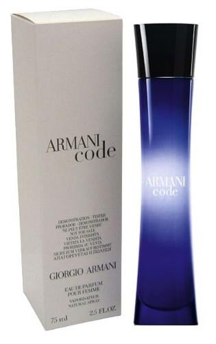 Giorgio Armani Code for Women, Parfémovaná voda - Tester, 75ml, Dámska vôňa, + AKCE: dárek zdarma