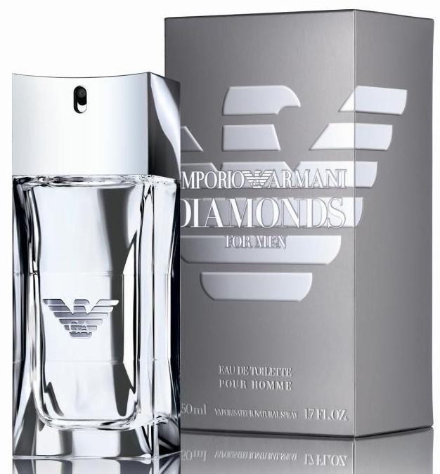 Giorgio Armani Diamonds for Men, Toaletní voda, 50ml, Pánska vôňa, + AKCE: dárek zdarma