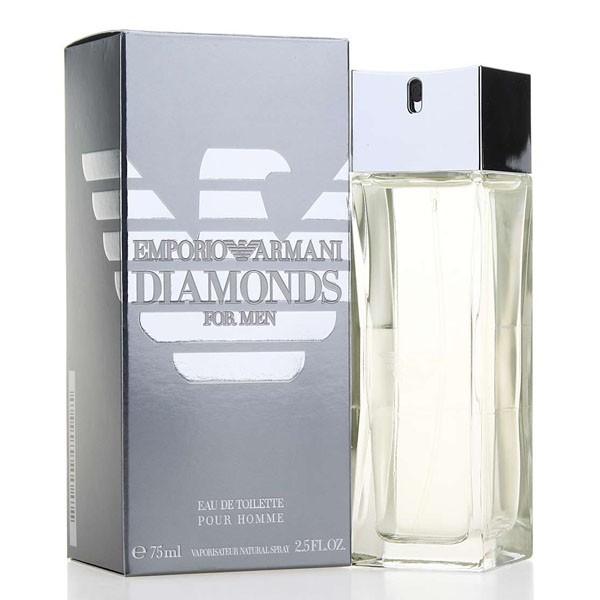 Giorgio Armani Diamonds for Men, Toaletní voda, 75ml, Pánska vôňa, + AKCE: dárek zdarma