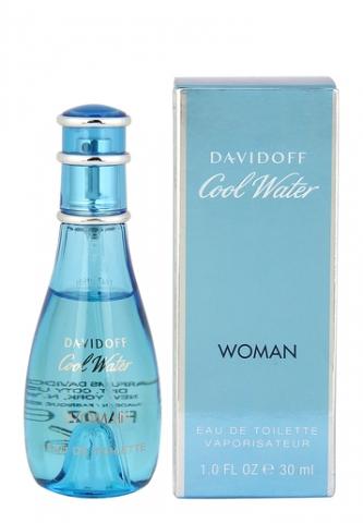 Davidoff Cool Water Woman, Toaletní voda, 30ml, Dámska vôňa, + AKCE: dárek zdarma