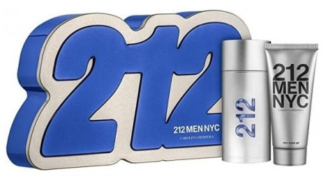 Carolina Herrera 212 Men, Dárková sada, toaletní voda 100ml + gel po holení 100ml (Hard Box), Pánska vôňa, + AKCE: dárek zdarma