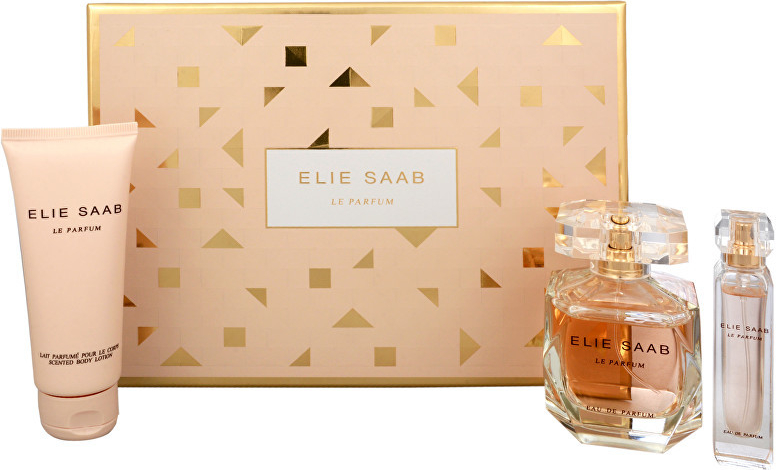 Elie Saab Le Parfum, Dárková sada, parfémovaná voda 90ml + tělové mléko 75ml + parfémovaná voda 10ml, Dámska vôňa, + AKCE: dárek zdarma