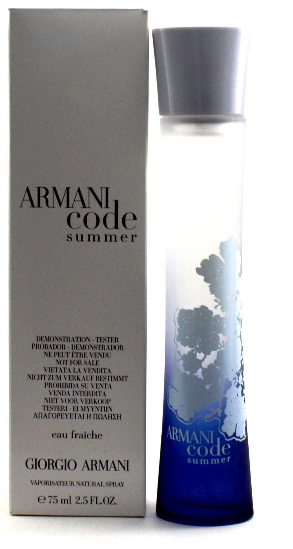 Giorgio Armani Code Summer Eau Fraiche, Toaletní voda - Tester, 75ml, Dámska vôňa, + AKCE: dárek zdarma
