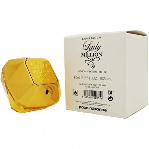 Paco Rabanne Lady Million, Parfémovaná voda - Tester, 80ml, Dámska vôňa, + AKCE: dárek zdarma