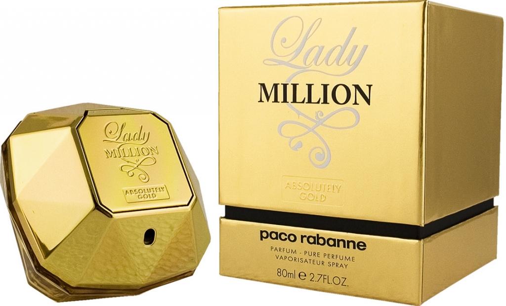 Paco Rabanne Lady Million Absolutely Gold, Parfémovaná voda, 80ml, Dámska vůně, + AKCE: dárek zdarma