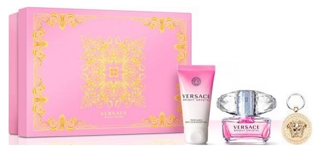 Versace Bright Crystal, Dárková sada, toaletní voda 90ml + tělové mléko 100ml + klíčenka , Dámska vôňa, + AKCE: dárek zdarma