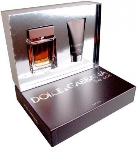 Dolce & Gabbana The One for Men, Dárková sada, toaletní voda 100ml + balzám po holení 75ml, Pánska vôňa, + AKCE: dárek zdarma