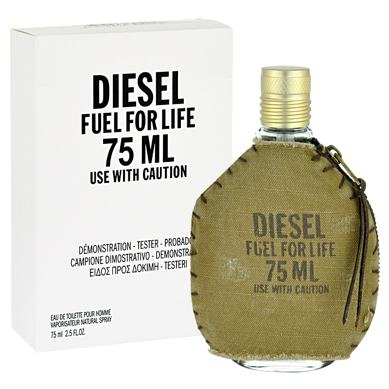 Diesel Fuel For Life Homme, Toaletní voda - Tester, 75ml, Pánska vôňa, + AKCE: dárek zdarma