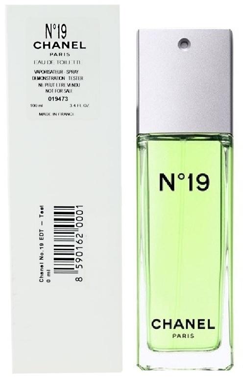 Chanel No.19, Toaletní voda - Tester, 100ml, Dámska vôňa, + AKCE: dárek zdarma