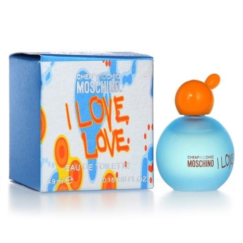 Moschino I Love Love, Toaletní voda, 4,9ml, Dámska vôňa, + AKCE: dárek zdarma