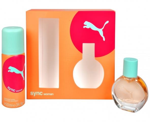 Puma SYNC Woman, Dárková sada, toaletná voda 20ml + deodorant 50ml, Dámska vůně, + AKCE: dárek zdarma