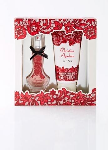 Christina Aguilera Red Sin, Dárková sada, parfémovaná voda 15ml + sprchový gel 50ml, Dámska vôňa, + AKCE: dárek zdarma