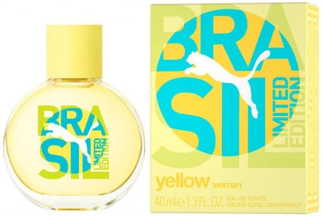 Puma Brasil Yellow for Woman, Toaletní voda, 40ml, Dámska vôňa, + AKCE: dárek zdarma