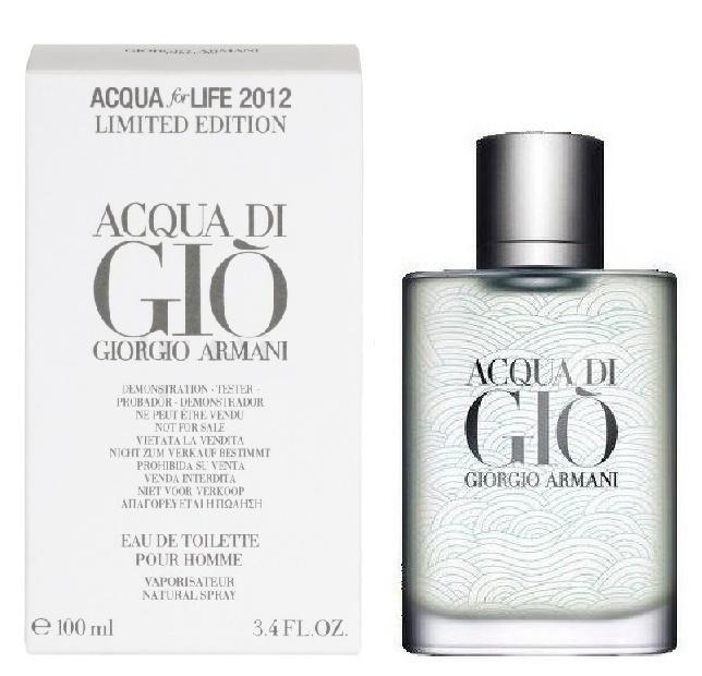 Giorgio Armani Acqua di Gio Acqua for Life, Toaletní voda - Tester, 100ml, Pánska vôňa, + AKCE: dárek zdarma