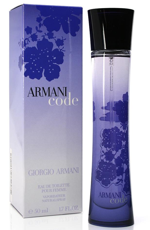 Giorgio Armani Code for Women, Toaletní voda, 50ml, Dámska vôňa, + AKCE: dárek zdarma