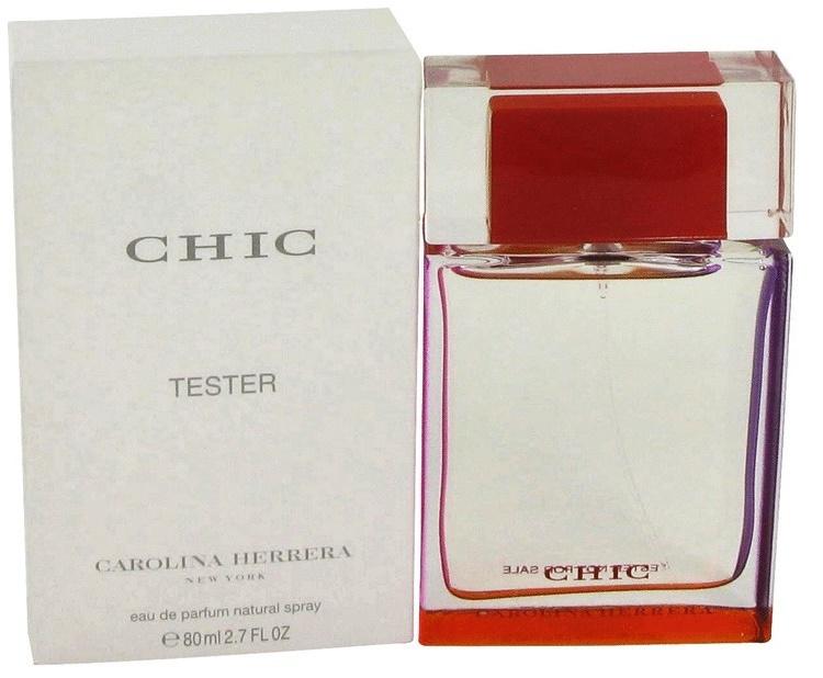 Carolina Herrera Chic, Parfémovaná voda - Tester, 80ml, Dámska vôňa, + AKCE: dárek zdarma