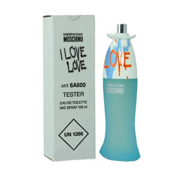 Moschino I Love Love, Toaletní voda - Tester, 100ml, Dámska vôňa, + AKCE: dárek zdarma