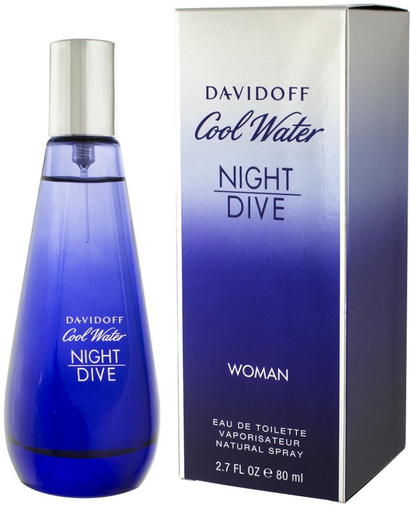 Davidoff Cool Water Night Dive Woman, Toaletní voda, 80ml, Dámska vôňa, + AKCE: dárek zdarma