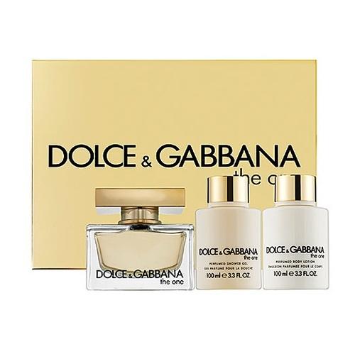 Dolce & Gabbana The One, Dárková sada, parfémovaná voda 75ml + sprchový gel 100ml + tělové mléko 100ml, Dámska vôňa, + AKCE: dárek zdarma