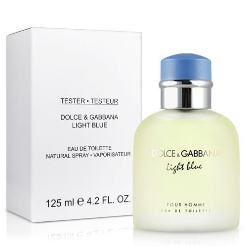 Dolce & Gabbana Light Blue pour Homme, Toaletní voda - Tester, 125ml, Pánska vôňa, + AKCE: dárek zdarma