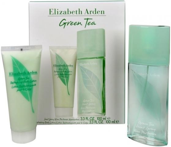 Elizabeth Arden Green Tea, Dárková sada, parfémovaná voda 100ml + tělové mléko 100ml, Dámska vôňa, + AKCE: dárek zdarma