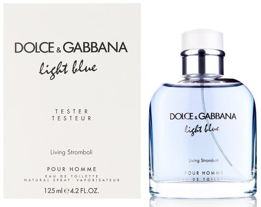 Dolce & Gabbana Light Blue Living Stromboli Pour Homme, Toaletní voda - Tester, 125ml, Pánska vôňa, + AKCE: dárek zdarma