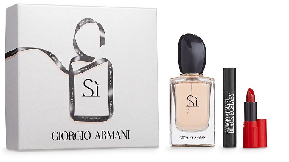 Giorgio Armani Si, Dárková sada, parfémovaná voda 50ml + řasenka Eyes To Kill Classico Black 2ml + rtěnka Lip Maestro 400 1,5ml , Dámska vôňa, + AKCE: dárek zdarma