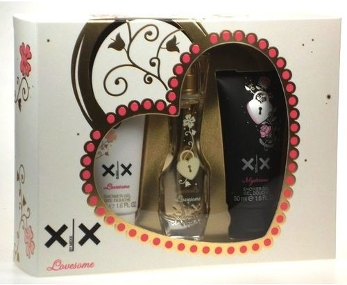 Mexx XX Lovesome, Dárková sada, XX Lovesome toaletní voda 20ml +Mysterious sprchový gel 50ml + Lovesome sprchový gel 50ml , Dámska vôňa, + AKCE: dárek zdarma