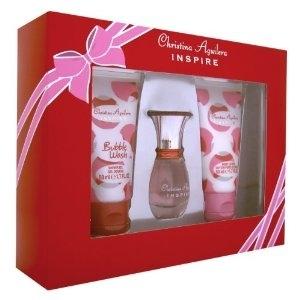 Christina Aguilera Inspire, Dárková sada, parfémovaná voda 15ml + sprchový gel 50ml + tělové mléko 50ml , Dámska vôňa, + AKCE: dárek zdarma
