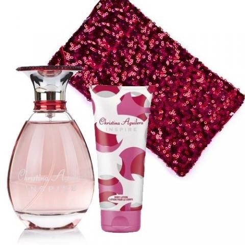 Christina Aguilera Inspire, Dárková sada, parfémovaná voda 100ml + tělové mléko 50ml + kosmetická taška, Dámska vôňa, + AKCE: dárek zdarma