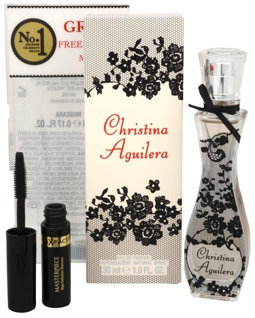 Christina Aguilera Christina Aguilera, Dárková sada, parfémovaná voda 30ml + mascara, Dámska vôňa, + AKCE: dárek zdarma