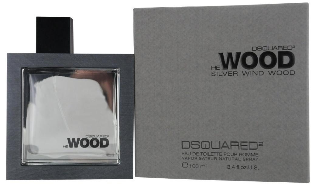 Dsquared2 He Wood Silver Wind Wood, Toaletní voda, 100ml, Pánska vôňa, + AKCE: dárek zdarma