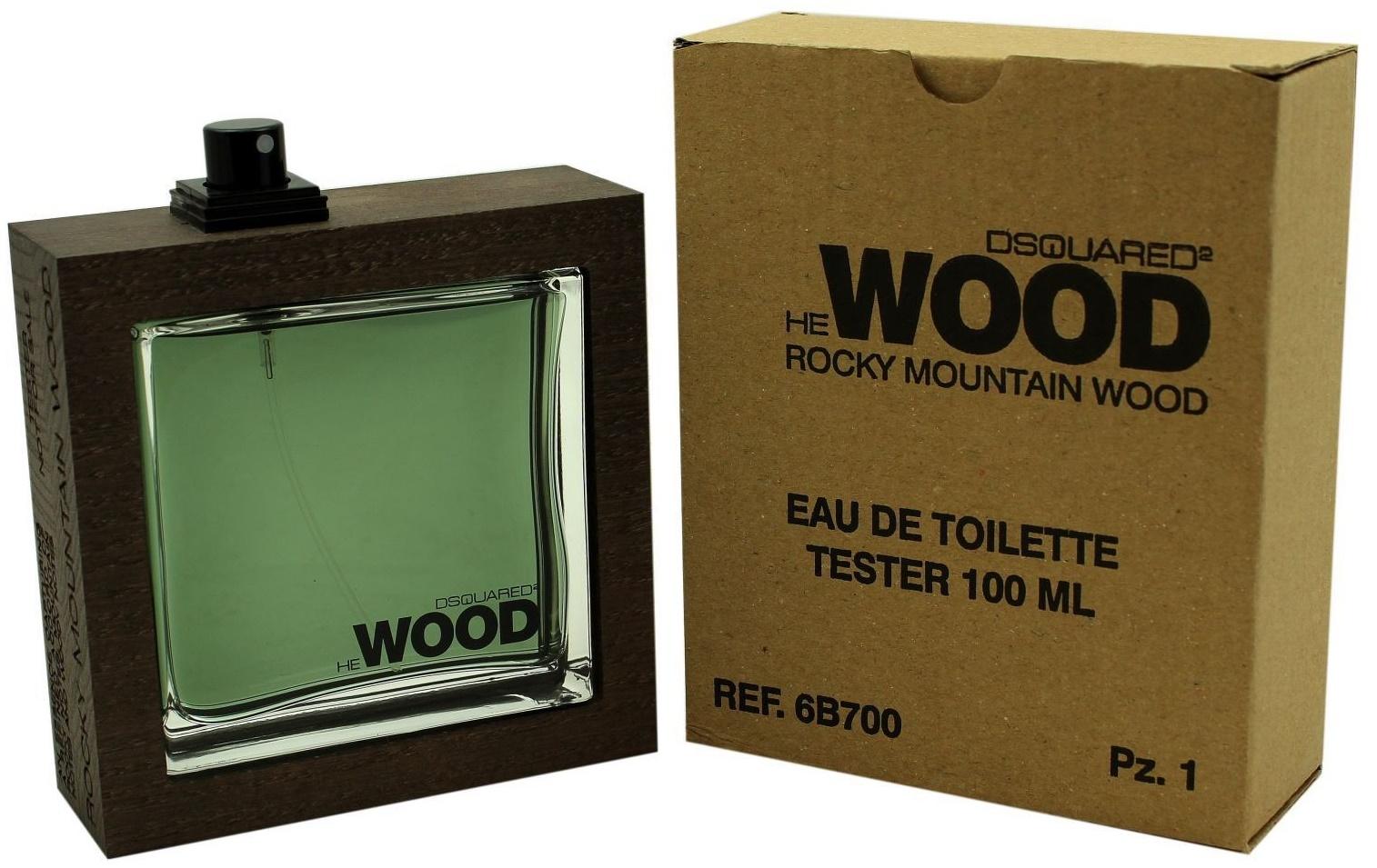 Dsquared2 He Wood Rocky Mountain Wood, Toaletní voda - Tester, 100ml, Pánska vôňa, + AKCE: dárek zdarma