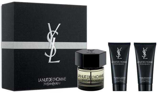 Yves Saint Laurent La Nuit de L´Homme, Dárková sada, toaletní voda 60ml + sprchový gel 50ml + balzám po holení 50ml, Pánska vôňa, + AKCE: dárek zdarma