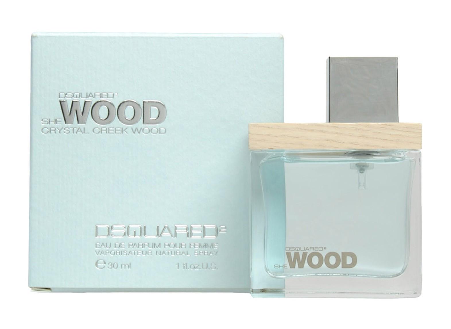 Dsquared2 She Wood Crystal Creek Wood, Parfémovaná voda, 30ml, Dámska vôňa, + AKCE: dárek zdarma