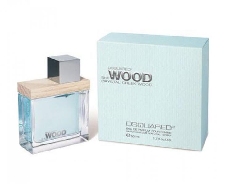 Dsquared2 She Wood Crystal Creek Wood, Parfémovaná voda, 50ml, Dámska vôňa, + AKCE: dárek zdarma