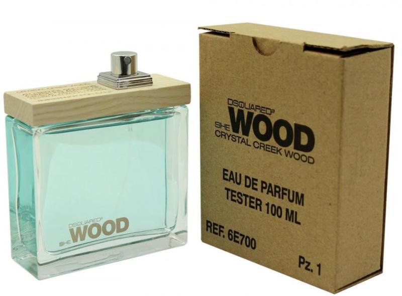 Dsquared2 She Wood Crystal Creek Wood, Parfémovaná voda - Tester, 100ml, Dámska vôňa, + AKCE: dárek zdarma