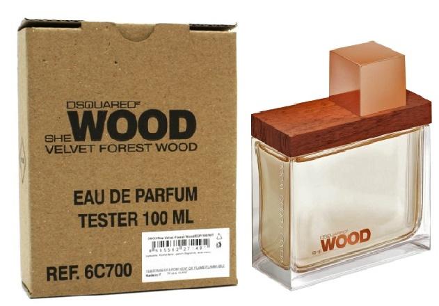 Dsquared2 She Wood Velvet Forest Wood, Parfémovaná voda - Tester, 100ml, Dámska vôňa, + AKCE: dárek zdarma