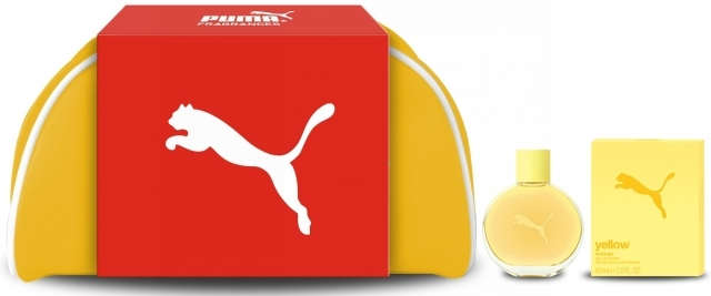 Puma Yellow Woman, Dárková sada, toaletní voda 40ml + taška, Dámska vôňa, + AKCE: dárek zdarma