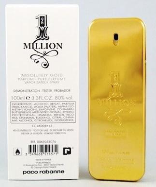 Paco Rabanne 1 Million Absolutely Gold, Parfémovaná voda - Tester, 100ml, Pánska vôňa, + AKCE: dárek zdarma