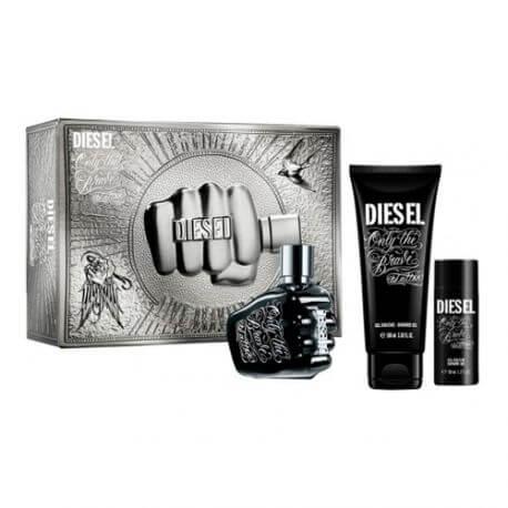 Diesel Only the Brave Tattoo, Dárková sada, toaletní voda 75ml + sprchový gel 100ml + sprchový gel 50ml, Pánska vôňa, + AKCE: dárek zdarma